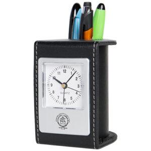 Desk Clock and Pen Cup
