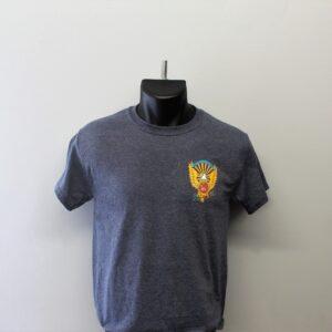 heathered blue t shirt